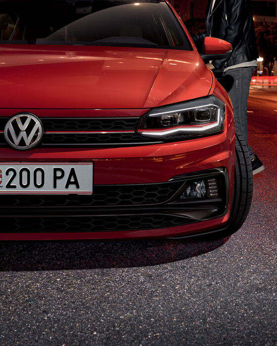 vw volkswagen polo gti rot front